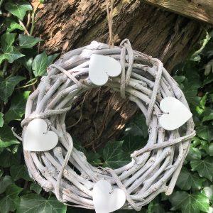 white rustic wreath