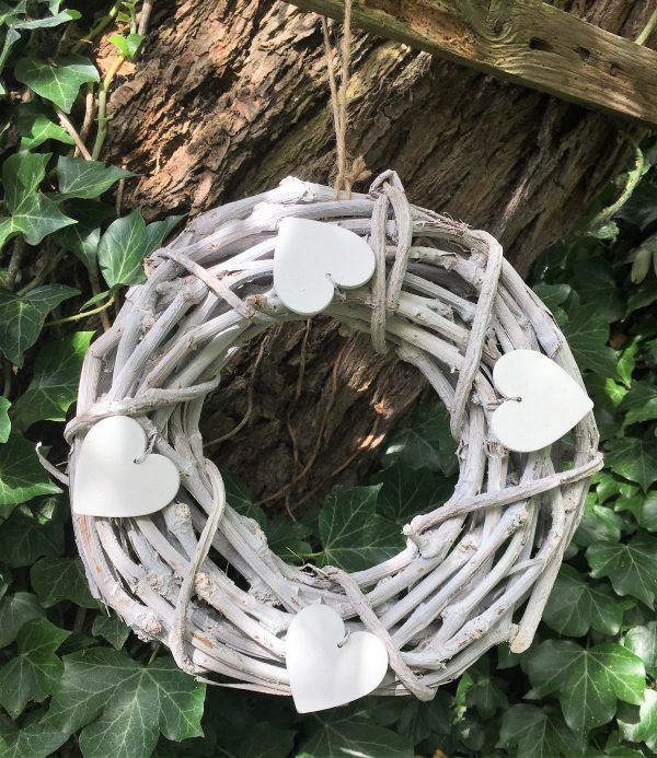 white rustic wreath